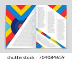 abstract vector layout... | Shutterstock .eps vector #704084659