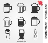 beer icons vector | Shutterstock .eps vector #704088520