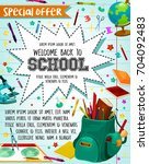 back to school sale or special... | Shutterstock .eps vector #704092483
