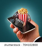 smartphone application for... | Shutterstock . vector #704102800