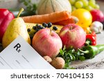 healthy lifestyle concept with... | Shutterstock . vector #704104153