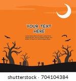 happy halloween background.... | Shutterstock .eps vector #704104384