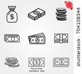 money icons  money icons vector ... | Shutterstock .eps vector #704108344