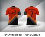 soccer t shirt design slim... | Shutterstock .eps vector #704108836