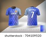 soccer t shirt design slim... | Shutterstock .eps vector #704109520