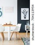 modern scandi style inspired... | Shutterstock . vector #704113954