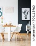 modern minimal home interior... | Shutterstock . vector #704113960