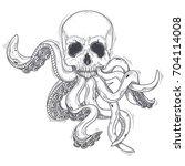 vector illustration of a human... | Shutterstock .eps vector #704114008