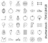 sport icons set. outline style... | Shutterstock .eps vector #704118418