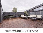 plants and beige garden... | Shutterstock . vector #704119288