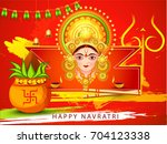 illustration of happy navratri... | Shutterstock .eps vector #704123338