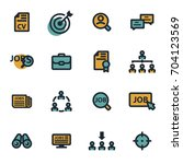 vector flat job search icons... | Shutterstock .eps vector #704123569