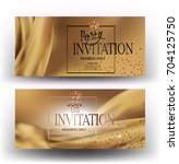 elegant invitation cards with... | Shutterstock .eps vector #704125750