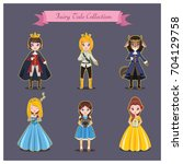 collection of princes and... | Shutterstock .eps vector #704129758
