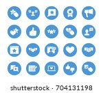 user reviews circular icons set | Shutterstock .eps vector #704131198