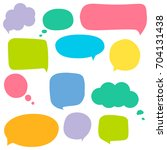 speech bubbles | Shutterstock .eps vector #704131438