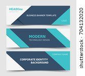 blue clean banner templates.... | Shutterstock .eps vector #704132020