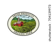 vector logo.farm fresh badge... | Shutterstock .eps vector #704139973