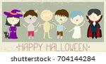 halloween banner  background ...   Shutterstock .eps vector #704144284
