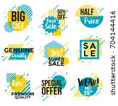 vivid collection of sale... | Shutterstock .eps vector #704144416