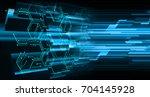 binary circuit future... | Shutterstock . vector #704145928