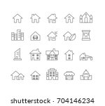 house and home icons set vector   Shutterstock .eps vector #704146234
