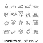 people and business icons set... | Shutterstock .eps vector #704146264