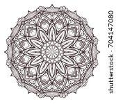 mandala designs for adult... | Shutterstock .eps vector #704147080