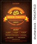 oktoberfest beer festival... | Shutterstock .eps vector #704147413