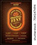 oktoberfest beer festival... | Shutterstock .eps vector #704147494