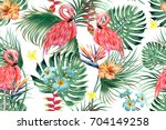 beautiful seamless vector... | Shutterstock .eps vector #704149258
