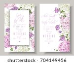 vector wedding invitations with ... | Shutterstock .eps vector #704149456