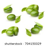 Green Olives With Leaves...