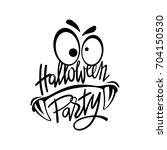 halloween night party monster.... | Shutterstock .eps vector #704150530