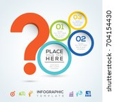 question mark infographic... | Shutterstock .eps vector #704154430