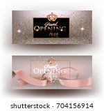 beige grand opening party... | Shutterstock .eps vector #704156914