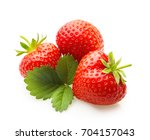 red berry strawberry isolated... | Shutterstock . vector #704157043