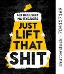 gym inspiring creative... | Shutterstock .eps vector #704157169