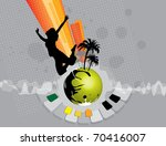vector illustration of musical... | Shutterstock .eps vector #70416007