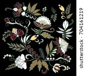 stock vector abstract hand draw ... | Shutterstock .eps vector #704161219