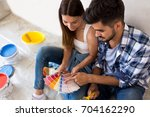 preparing and choosing colors... | Shutterstock . vector #704162290