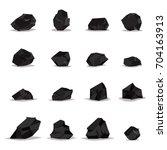 coal vector cartoon set of flat ... | Shutterstock .eps vector #704163913
