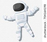 astronaut in helmet and... | Shutterstock .eps vector #704164198