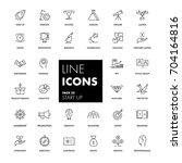 line icons set. start up pack....   Shutterstock .eps vector #704164816