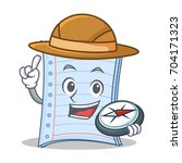explorer notebook character... | Shutterstock .eps vector #704171323