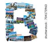 english alphabet letter made of ... | Shutterstock . vector #704173963