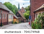 lund  a small old town in... | Shutterstock . vector #704174968