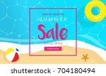summer sale vector illustration ... | Shutterstock .eps vector #704180494