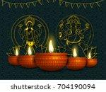 golden line art illustration of ... | Shutterstock .eps vector #704190094