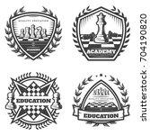 vintage monochrome chess... | Shutterstock .eps vector #704190820